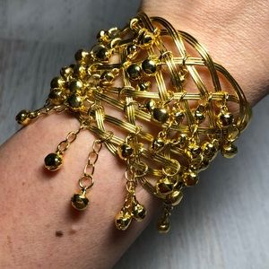 Belly Dancer Gold Cuff Bracelet
